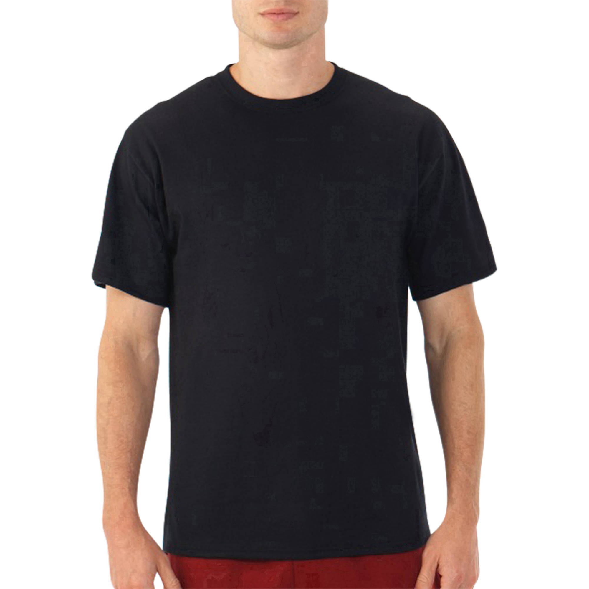 New Fruit of the Loom Platinum EverSoft Men's Short Sleeve Crew T Shirt