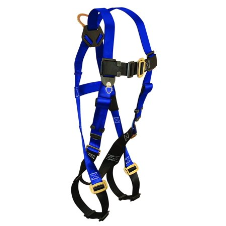 - 7015XL Contractor Harness with 1 D-Ring Mating Buckle Leg Straps Extra Large By FallTech Ship from US