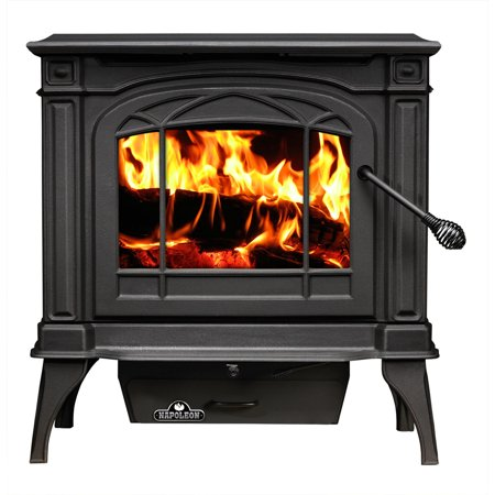 Napoleon Epa Wood - Napoleon 1100C-1 EPA 1.7 Cubic Foot Cast Iron Wood Burning Leg Mount Stove