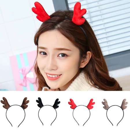 Moderna Christmas Kids Adult Lovely Reindeer Antlers Headband Hair Band Hoop Xmas Gift - Adult Headbands