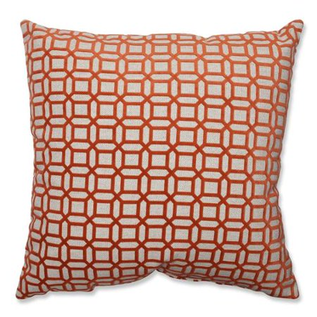 Orange And White Decorative Pillows : 18