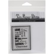 "Two Paper Divas Clear Stamps 6""x4.5""-lov"