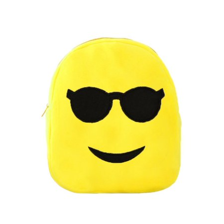 Cool Sunglasses Face Emoji Plush Backpack Funny Boys and Girls Shoulders - Cheap Funky Sunglasses