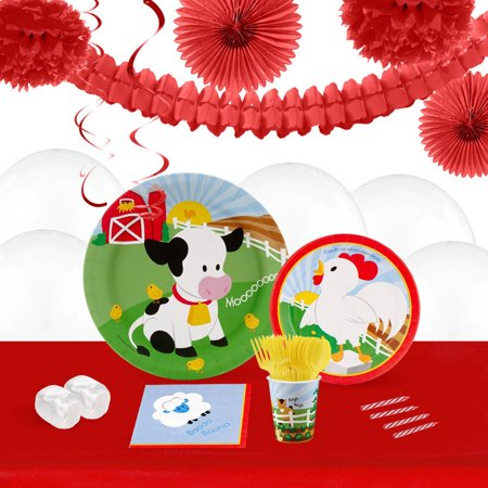Barnyard 16-Guest Tableware and Decoration Kit