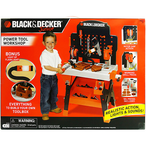 black & decker power tool junior workshop with 50 accessories ...