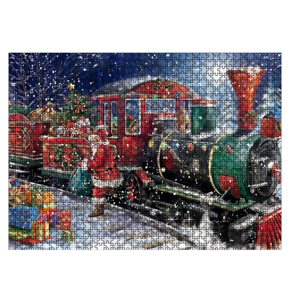 DIY Star Train Mini Puzzles 1000 Pieces Jigsaw Puzzles Adult kids Assembling Toy