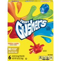 Gushers Tropical Flavors Fruit Flavored Snacks 6 Count