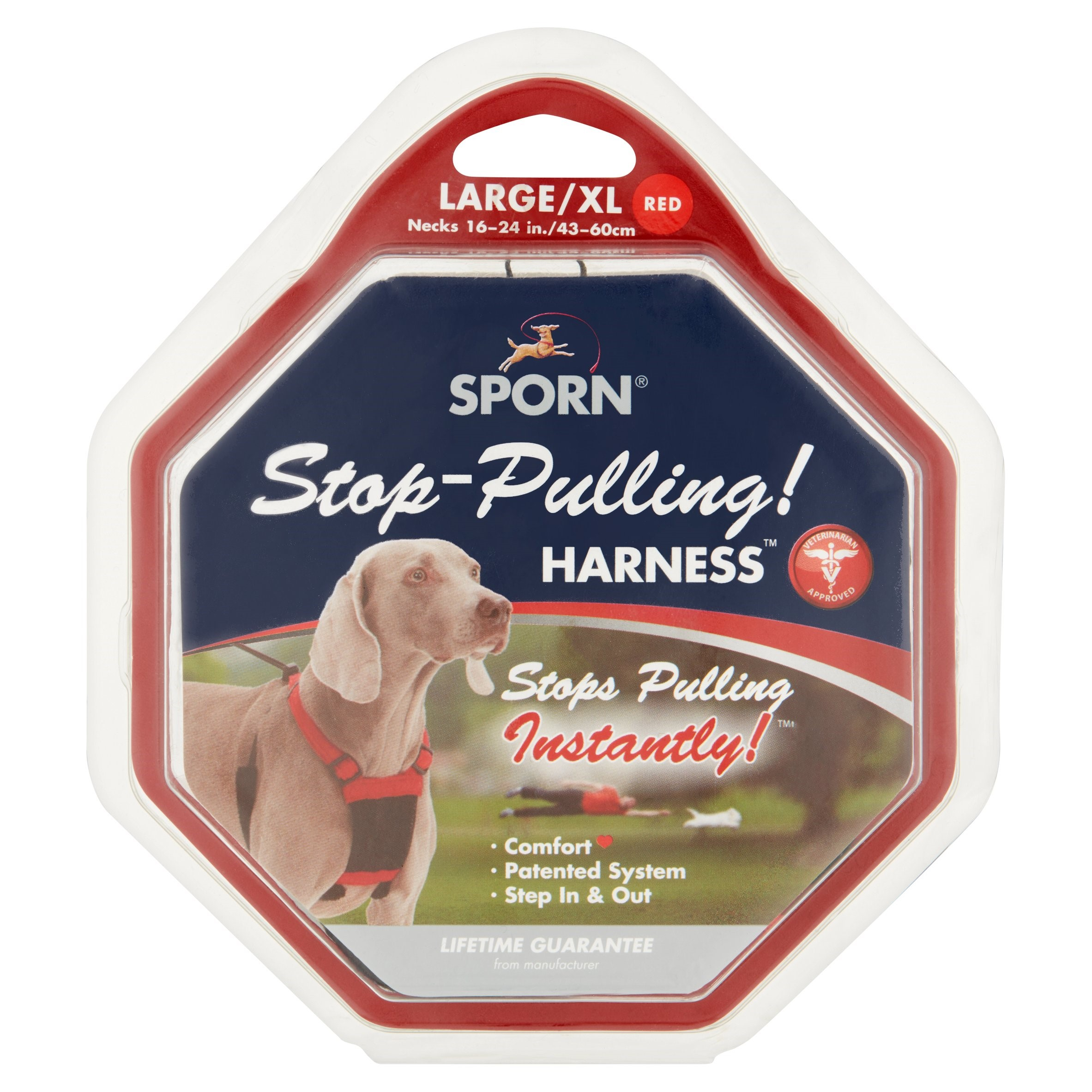 Sporn Stop-Pulling! Red Large/XL Harness