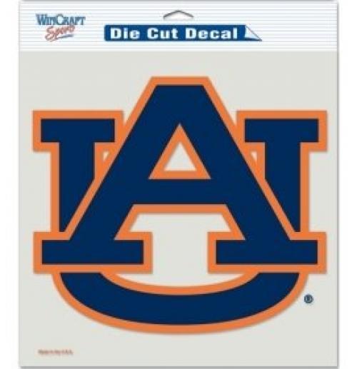 "NCAA Auburn Tigers Die-Cut Color Decal, 8""x8"", Team Color"