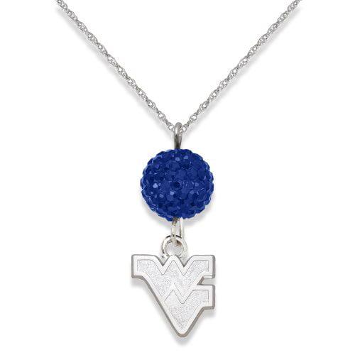 University of West Virginia S/S WEST VIRGINIA UNIV CRYSTAL OVATION NECKLACE
