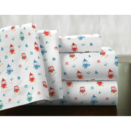 Pointehaven Owl 100pct Cotton Sheet Set Walmart Com