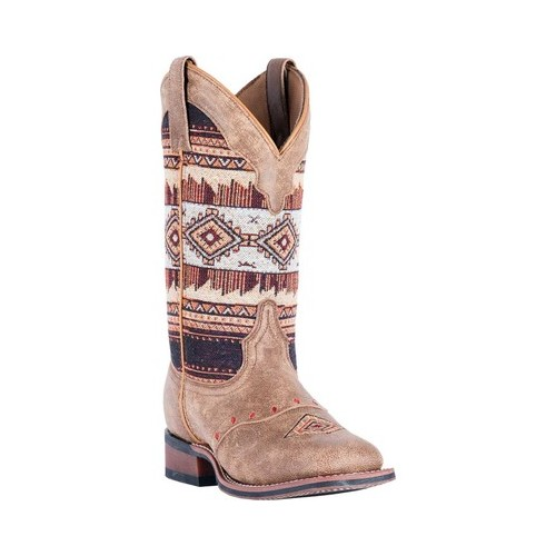Women's Laredo Scout Broad Square Toe Cowgirl Boot 5638 by