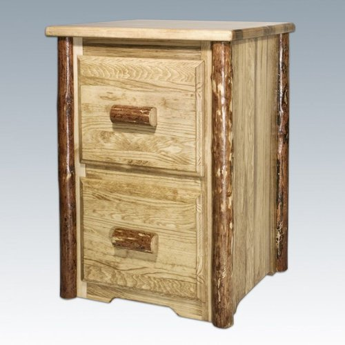 Montana Woodworks MWGCFC2 Glacier Country Two Drawer File Cabinet