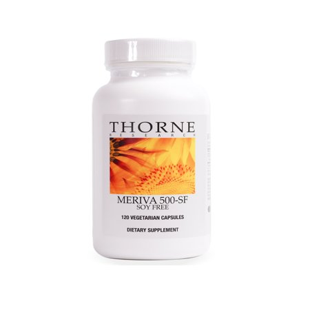 Thorne Research - Meriva 500-SF (Soy Free) - Curcumin Phytosome Supplement - 120 Capsules (Thorne Research Basic)