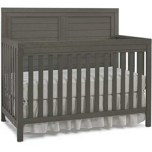 Ti Amo Castello 4-in-1 Convertible Crib, Gray