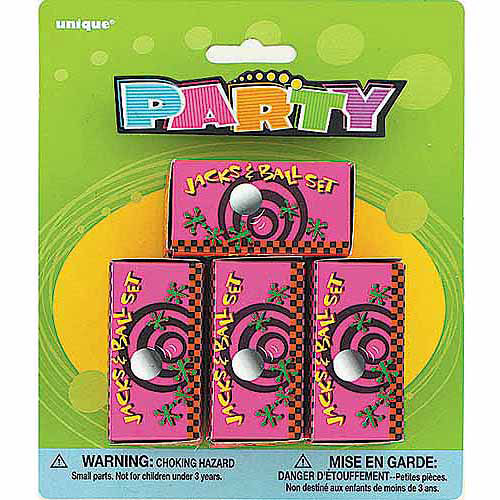 Ball and Jacks Set Party Favors, 4-Count