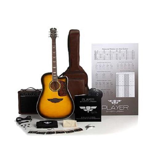 Keith Urban 50 Piece Deluxe Player Acoustic Electric Guitar Brazilian Burst Right Walmart Com Walmart Com