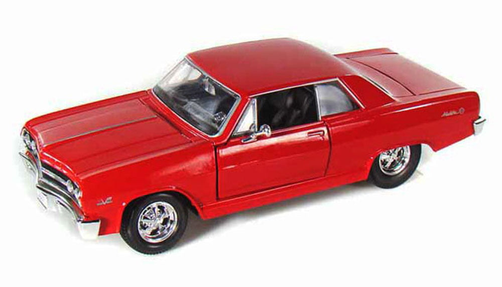 1965 Chevy Malibu SS, Red Maisto 31258 1 24 Scale Diecast Model Toy Car by Maisto