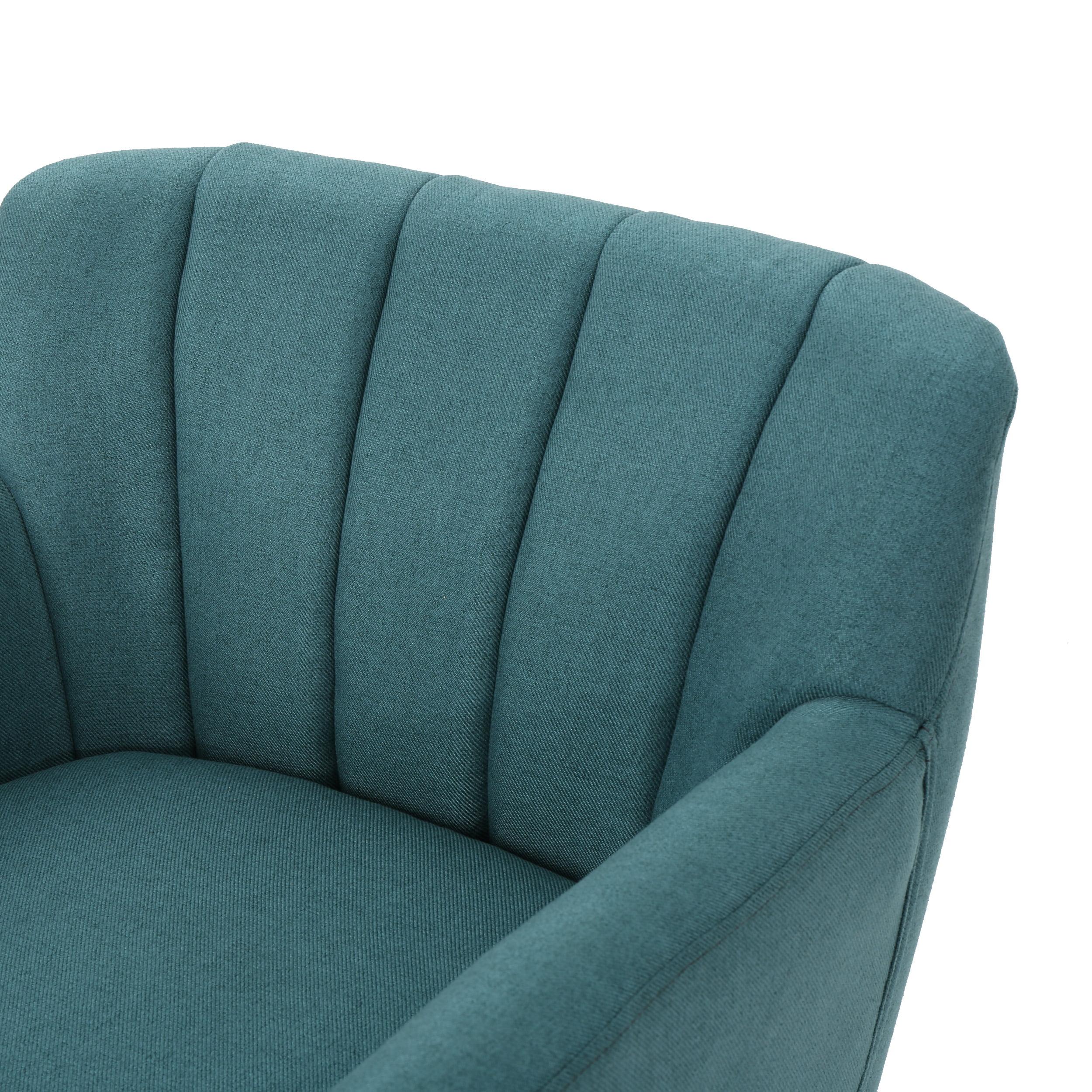 Terrific Madelyn Mid Century Modern Fabric Club Chair Dark Teal Machost Co Dining Chair Design Ideas Machostcouk