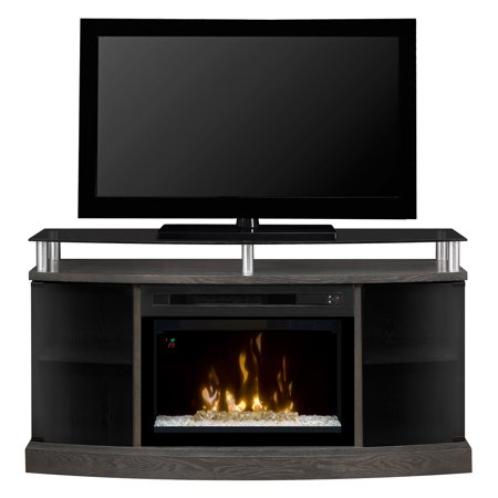 Curved End Console - Dimplex Windham Media Console Electric Fireplace With 25