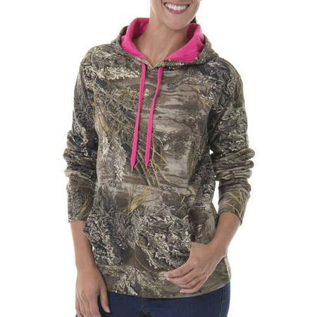 2e2898aee5f0 Women s Camo Fleece Pullover Hoodie - Walmart.com