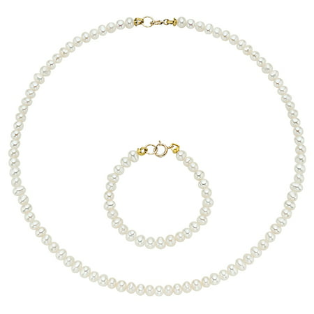 Hot Deal!  Pearlyta 14k Gold Cultured Freshwater Pearls Kid