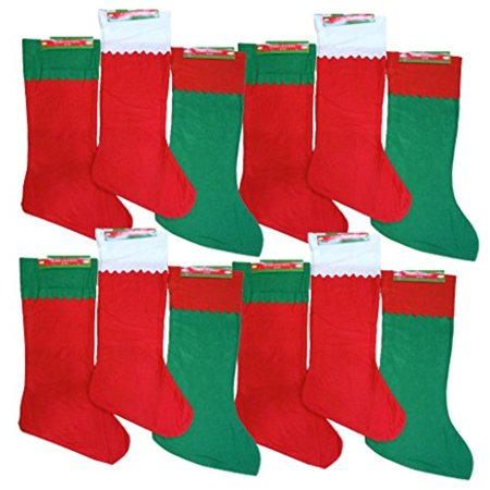 set of 12 black duck brand felt christmas stocking jumbo 365 inches 3 different styles - Black Christmas Stocking
