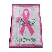 NEW Winning Edge Designs Breast Cancer Prevention Golf Fore Life Pink Golf Towel