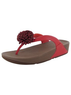 e155469ca Product Image Fitflop Womens Flowerball Leather Toe Post Flip Flop Shoes