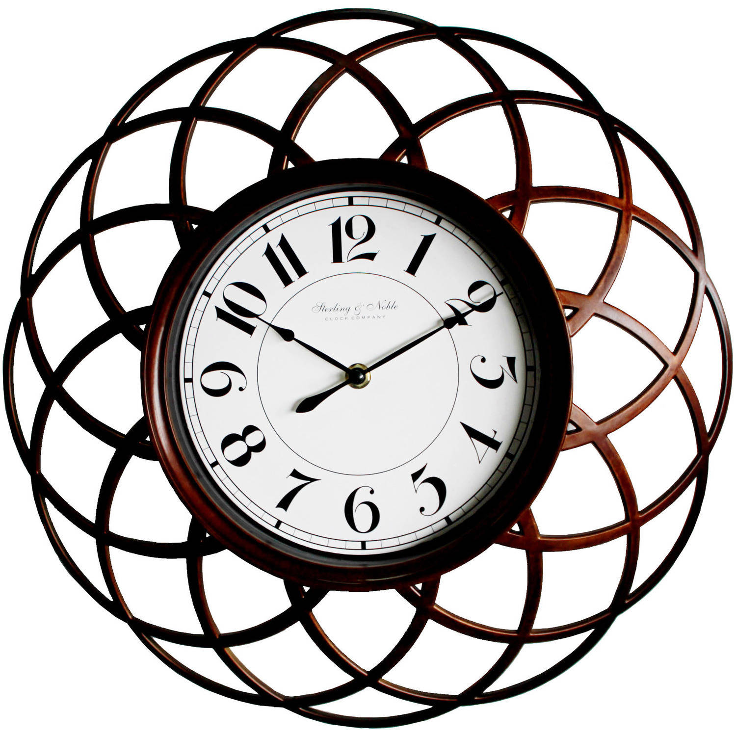 Mainstays Open Spiral Wall Clock