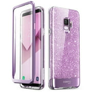 Samsung Galaxy S9 Case, [Scratch Resistant] i-Blason [Cosmo] Full-Body Bling Glitter Sparkle Clear Bumper Case with Built-in Screen Protector for Galaxy S9 (2018 Release)