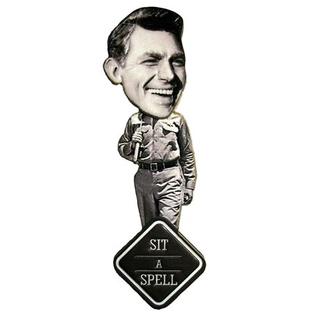 Andy Griffith Sit A Spell Bobble Head Artwood Fridge Magnet (Doll Fridge Magnet)