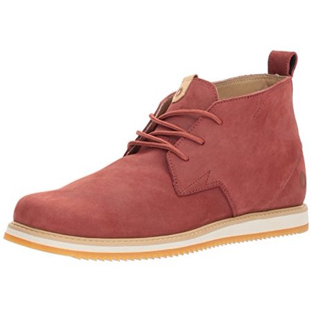 Volcom Men's Del Coasta Leather Shoe Chukka Boot, Rust, 6.5 D US ()