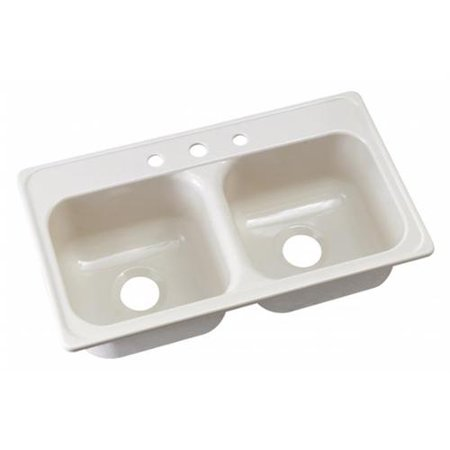 Lyons Industries Dks02j 3 5 Almond 33 In X 19 Manufactured Mobile Home Acrylic 9 Deep Kitchen Sink Three Hole