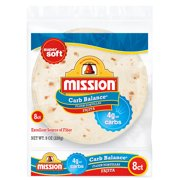 Mission Carb Balance Fajita Flour Tortillas, 8 Count