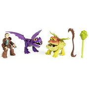DreamWorks Dragons, Dragon Riders,Valka & Scuttleclaw with Baby Gronckle Figures