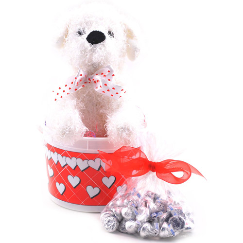 Sweets in Bloom Valentine's Love Puppy Gift Set