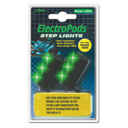 STREET-FX STEP LIGHTS - GREEN 2 PK.