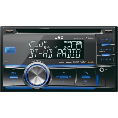jvc kw hdr81bt refurbished double din bluetooth car stereo. Black Bedroom Furniture Sets. Home Design Ideas