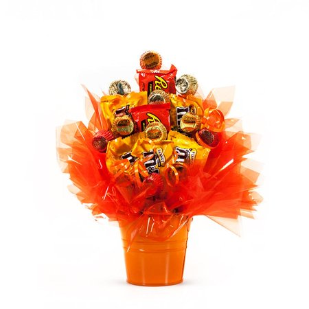 Reese And M&Ms Candy Bouquet - Pizza Bouquet