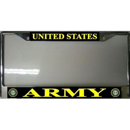 United States Army Photo License Plate Frame Free Screw Caps Included