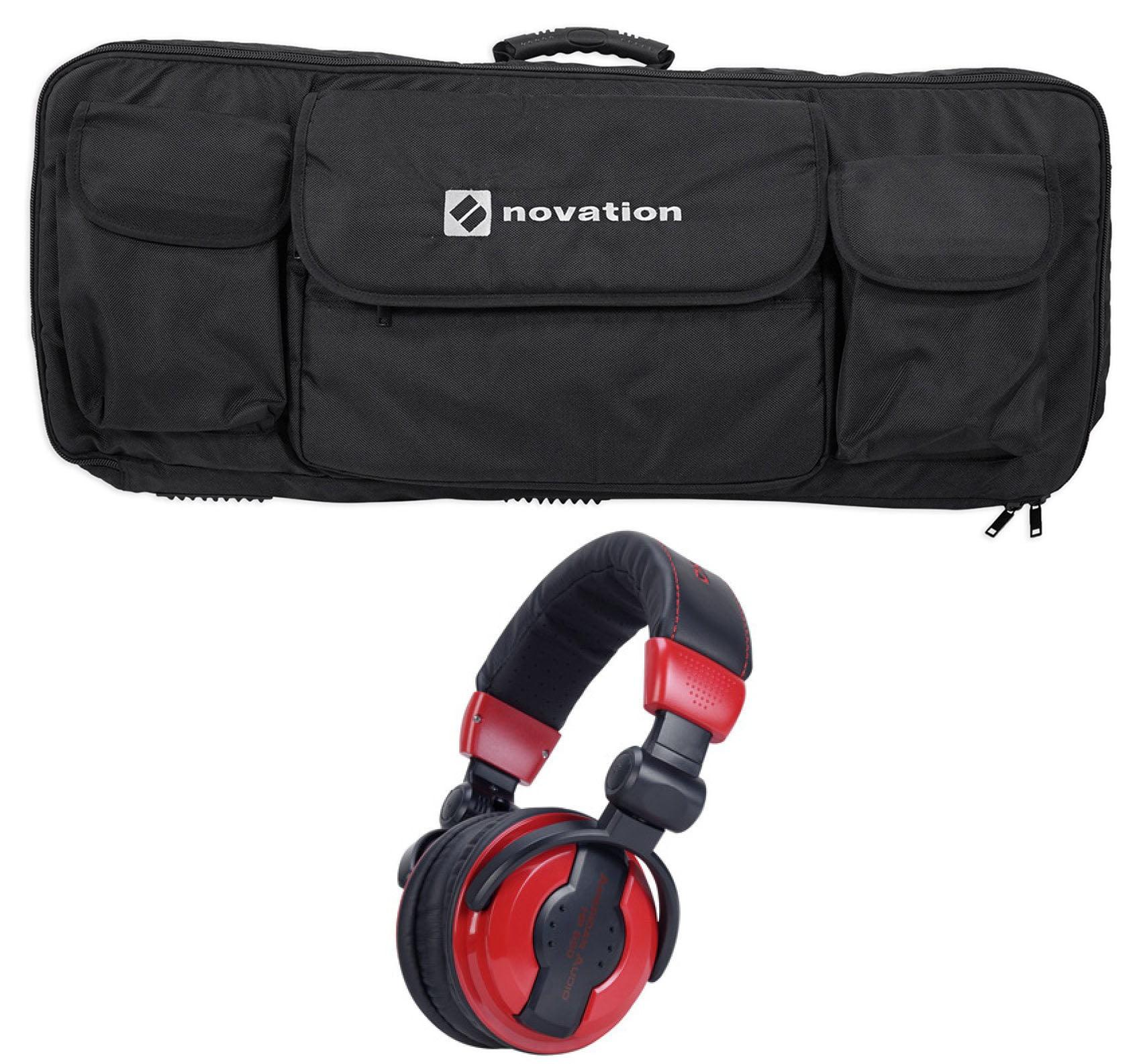 Novation 49-Key Case Soft Carry Bag For Launchkey 49 MIDI Controller+Headphones by Novation