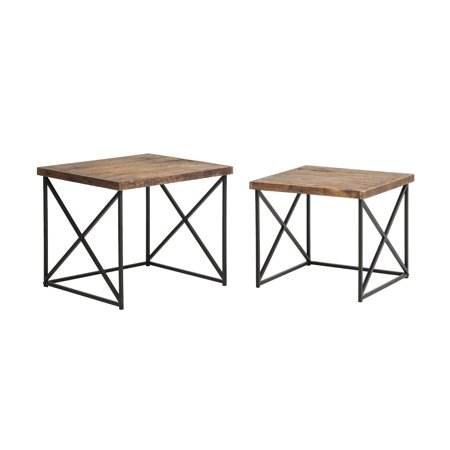 Argos Reclaimed Wood Nesting Tables (Set of 2) ()