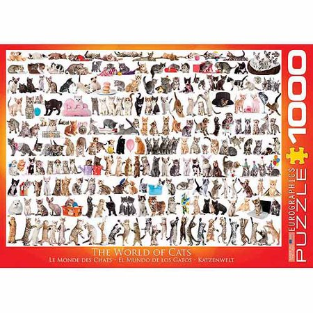 Eurographics World Of Cats 1000 Piece Puzzle