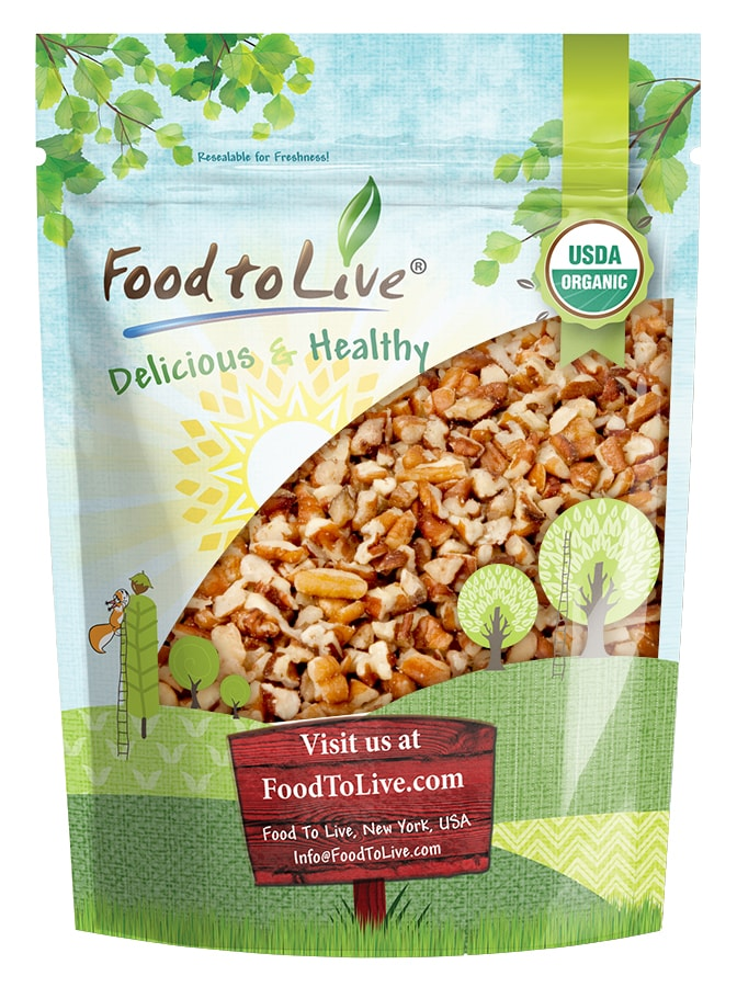 Food to Live Certified Organic Pecan Pieces (Non-GMO, Bulk) (12 Ounces) � by Food to Live