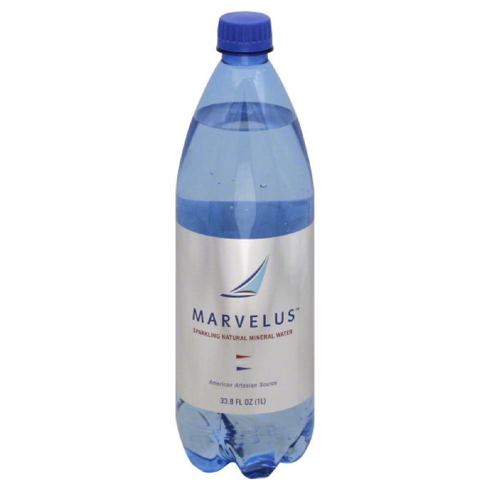 Marvelus Natural Mineral Sparkling Water, 1 Lt (Pack of 12)