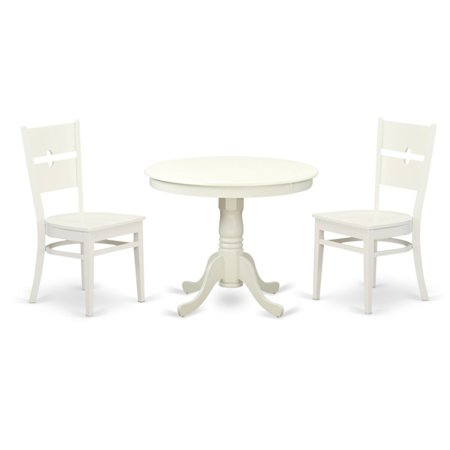 East West Furniture 3 Piece Modern Mission Kitchen Dinette Dining Table Set