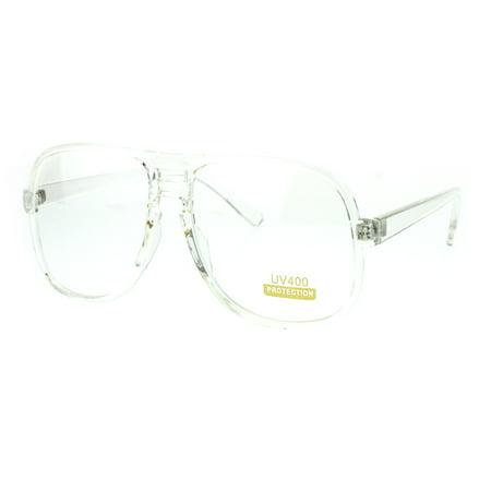 Nerdy Oversize Clear Frame Plastic Racer Aviator Eye