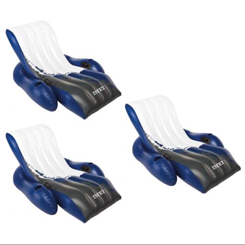 Intex Floating Pool Recliner Lounges with Cup Holders | 58868E (3 Pack)
