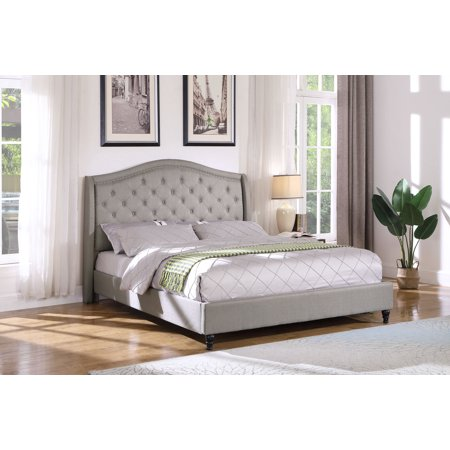 Best Master Furniture Cal. King Tufted Upholstered Panel/Platform Bed, -